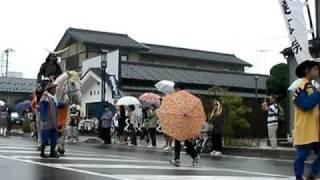 2010年9月12開催の、「政宗公まつり」騎馬武者隊・伊達政宗公です。