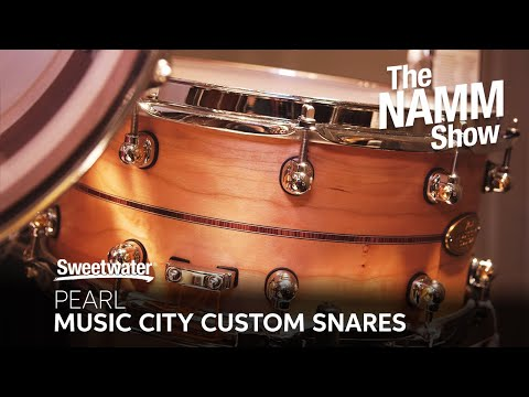 Pearl Music City Custom Snare Drums at Winter NAMM 2020