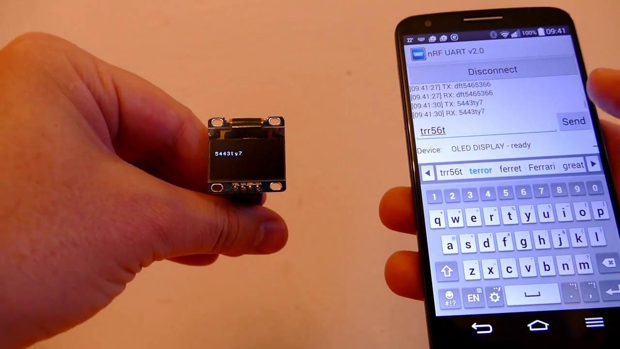 NORDIC NRF51 UART CONNECTED TO ANDROID