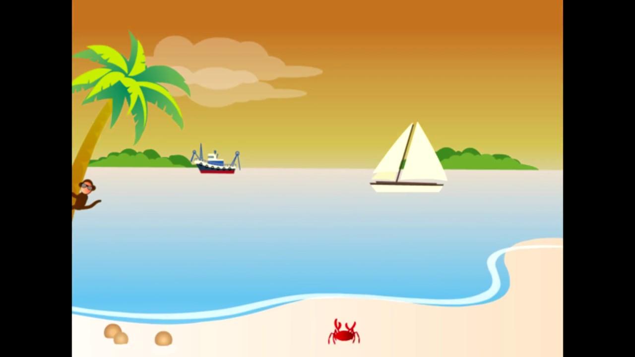 Playa Animada Clase Animacion Youtube