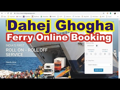 Dahej Ghogha Ro-Ro Ferry | Online Booking