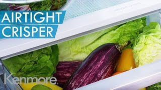 Innovative AirTight Crisper that Really Works(The Kenmore fridge AirTight Crisper locks in freshness to help retain moisture in veggies longer when compared to a standard humidity crisper bin – so you'll ..., 2014-10-29T23:45:51.000Z)