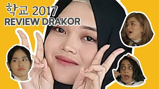 #4 Viu Drakor Class | Putri Delina Belajar Bahasa Korea Sambil Review Drakor School 2017