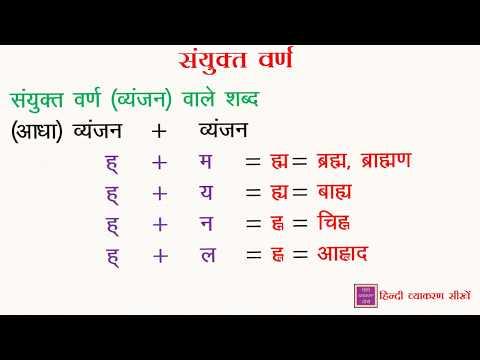 हिंदी व्याकरण सीखें : Sanyukt Varn ( संयुक्त वर्ण )