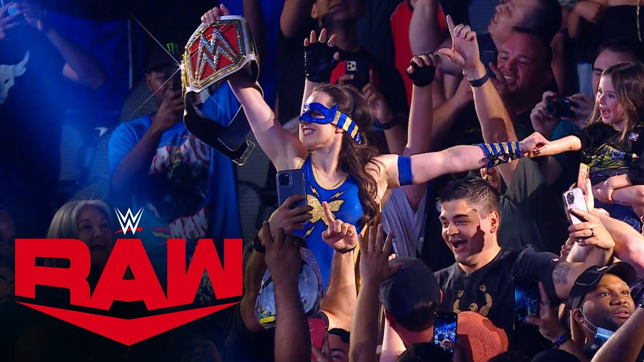 Nikki A.S.H. celebrates her Raw Women's Title win with the WWE Universe: July 19, 2021