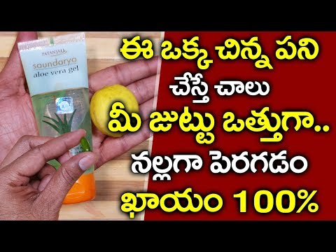 ఈ మూడు కలిపి రాసుకుంటే.. I Hair Growth Tips in Telugu I Health Tips Telugu IEverything in Telugu thumbnail