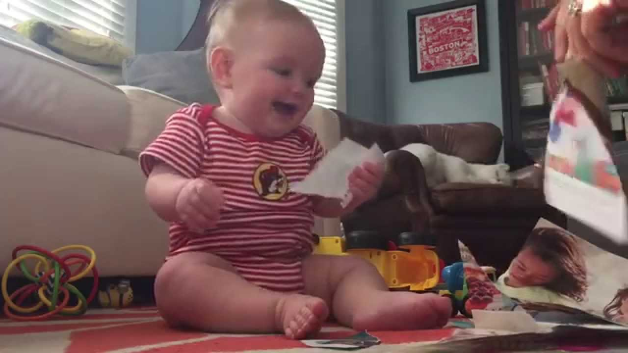 Baby Poppy Laughs Hysterically from Ripping Catalog--HD VERSION