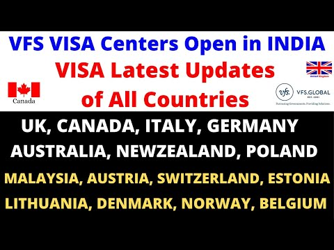 VFS Global Opens In INDIA ! UK, CANADA, ITALY, AUSTRALIA VISA Is READY Updates ! Biometrics !Flights