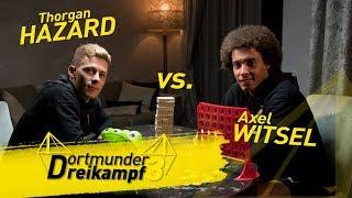 Thorgan Hazard vs. Axel Witsel: The Dortmund Triathlon - Crocodile Dentist, Jenga & Connect Four
