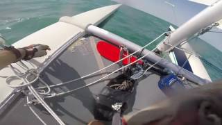 Sailing On Dart 18 Catamaran