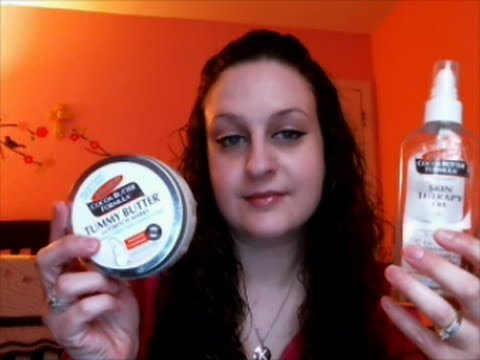 Avoid Stretch Marks w/Palmers Cocoa Butter Oil & Tummy Butter