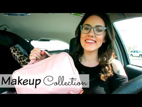 MY ENTIRE MAKEUP COLLECTION + STORAGE | Katie Carney