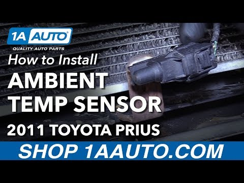 How to Install Replace Ambient Temperature Sensor 2011 Toyota Prius