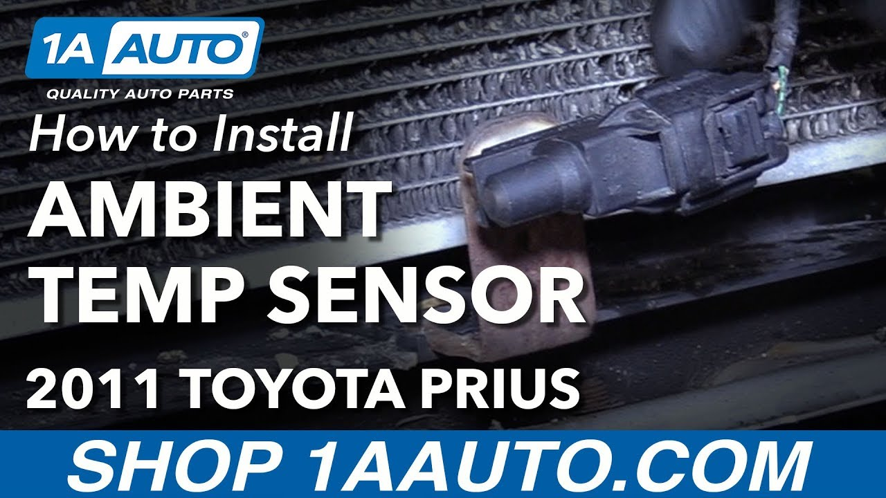 How To Install Replace Ambient Temperature Sensor  Toyota Prius