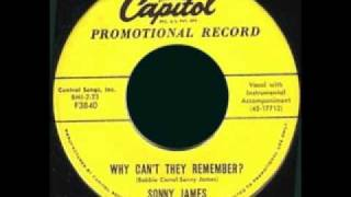 SONNY JAMES - Why Cant They Remember? (1957) YouTube Videos