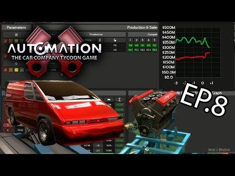 Van dos correios ou escolar V6 no Automation Car Tycoon - LCV3 - Episódio 8