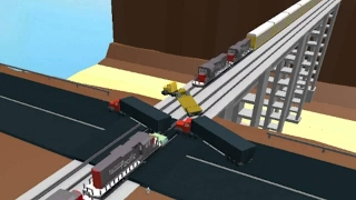 Driving And Crashing Trains!! Roblox:Drive Cars Onto The Track & Get Hit