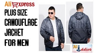 AliExpress Review: New Plus size Camouflage jacket coat - Mens brand clothing