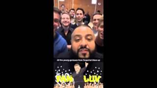 DJ Khaled Visits Snapchat Headquarters... on Snapchat Video