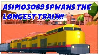 ASIMO3089 SPAWNED THE LONGEST TRAIN! | Playing With Asimo3089 | Roblox Jailbreak