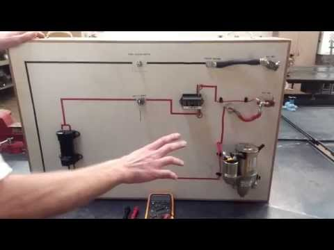 How to (voltage drop) test a starter motor circuit