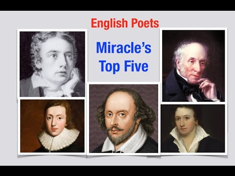 Miracle's Top Five: Great English Poets