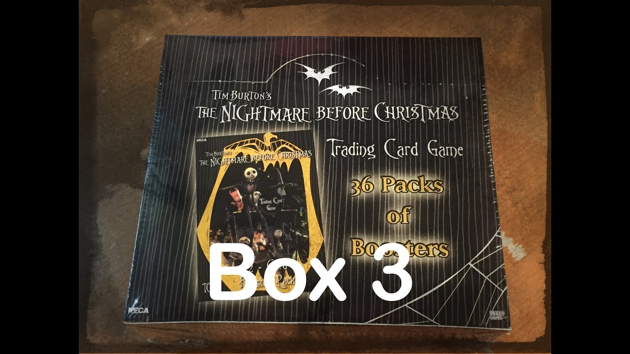 The Nightmare Before Christmas TCG Box Opening - Box 3 - YouTube