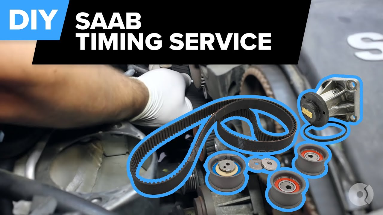 saab timing belt replacement 9 5 arc 3 0t v6 belts pulleys tensioner water pump  [ 1280 x 720 Pixel ]