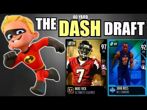 THE DASH DRAFT! FASTEST 40 YARD DASH IN EVERY ROUND! Madden 18 Draft Champions Gameplay