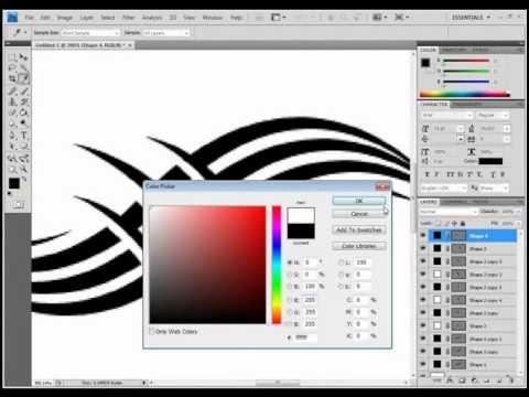 Photoshop Pen Tool Tutorial Tattoo Design