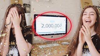 لحظة وصولي ٢ مليون مشترك على يوتيوب ..!!