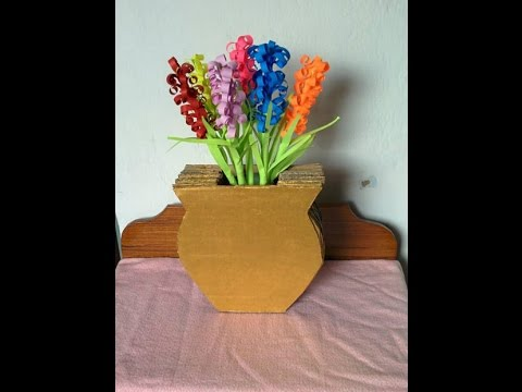 How To Make A Cardboard Vase Youtube