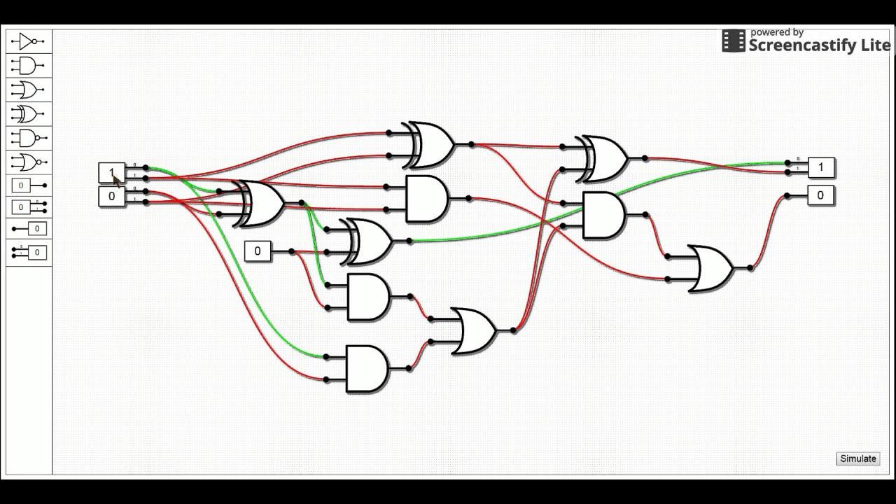 2 Bit Adder Schematic Diagrams Addersubtractor Circuit Block Diagram 6m Jun2006 Computer Digilogs Youtube Digital Circuits
