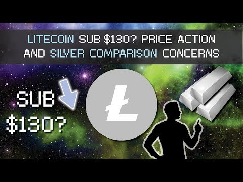 Litecoin Sub $130? Price Action and Silver Comparison Questions with Bitcoin