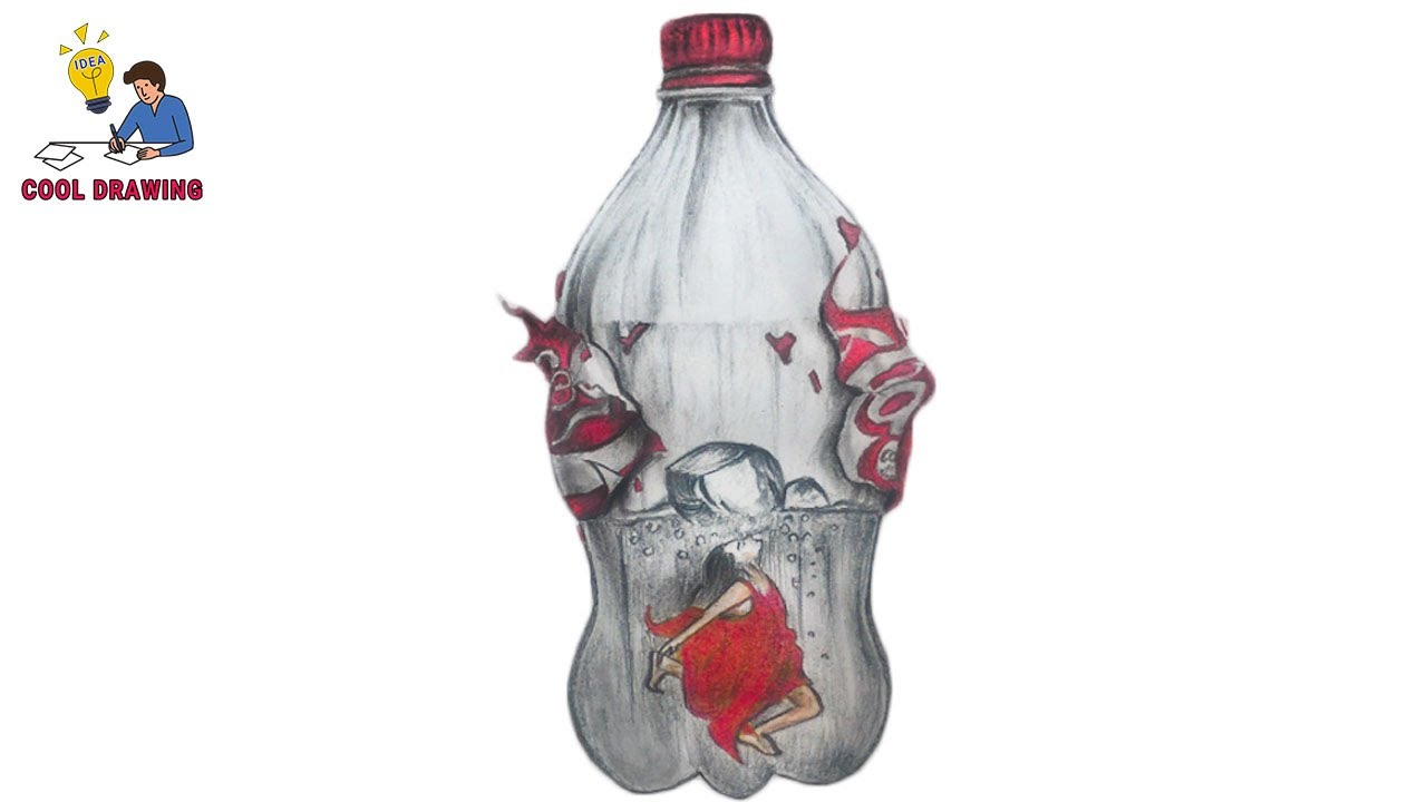 Water Bottle Drawing Cool Drawing Idea
