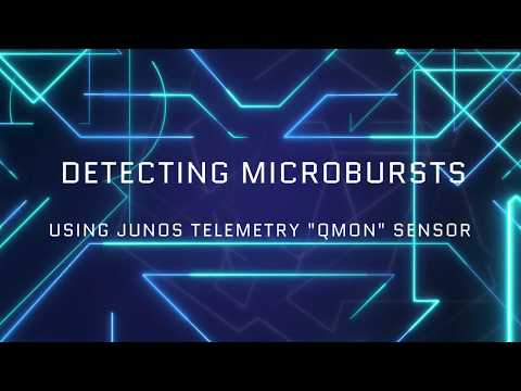 Detecting Microbursts Using Junos Telemetry QMON Sensor