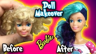 Barbie Makeover - DIY Custom Thrift Store Doll and and New Look - Making Kids Toys