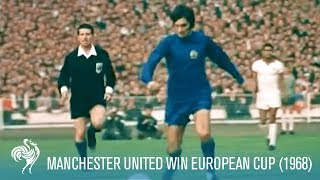 Manchester United Win European Cup vs S.L. Benfica (1968) | British Pathé
