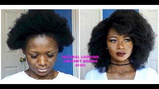 FAUX AFRO~NATURAL LOOKING CROCHET BRAIDS (No Leave Out)