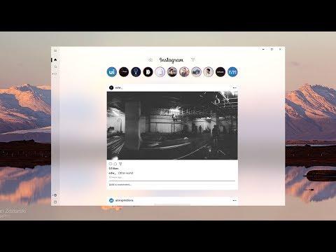 Instagram Redesign with New Windows Fluent Design System - Designed with Adobe XD - Speedart