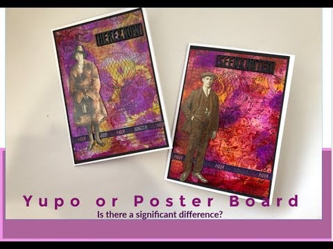 Yupo paper vs $1 store poster board. Is there a difference?