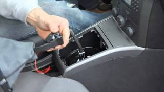Einbau ICT Led Schaltknauf Opel Astra H 5gang wechseln How to gear shift knob change instruction