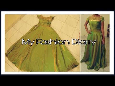 FLOOR LENGTH UMBRELLA DESIGNER GOWN ( FULL TUTORIAL)