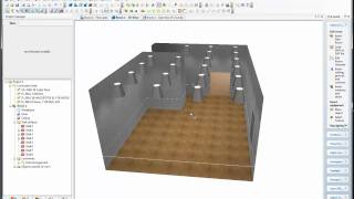 Dialux Cad Import & Lux Calculating