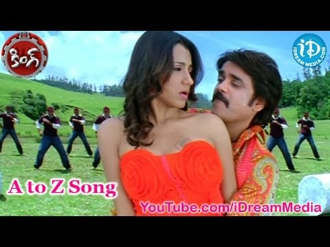 King Movie Songs  A to Z Song  Nagarjuna  Trisha Krishnan  Mamta Mohandas