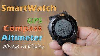 UWear UW80 review - Smartwatch with Built in GPS, Compass, Altimeter,  Barometer
