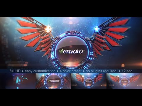 3d wings logo reveal after effects template youtube for Habitacion 3d after effects