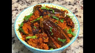 Andhra Special Gutti Vankaya Kura | Stuffed Brinjal Curry No onion & garlic | Stuffed Brinjal Curry