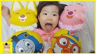 Thomas and Friends & Pororo Giant Balloon Toys Family Fun Play For Kids | MariAndKids Toys