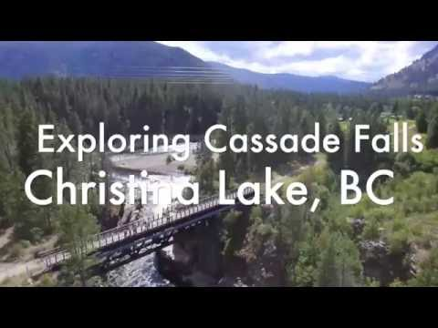 Exploring Cassade Falls in Christina Lake, BC